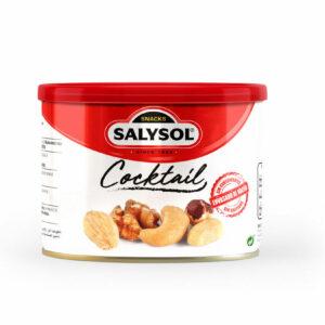 cocktail de frutos secos compuesto por una mezcla de cacahuetes repelados fritos, nueces, almendras